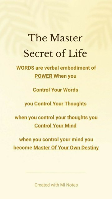 The Master Secret of Life
